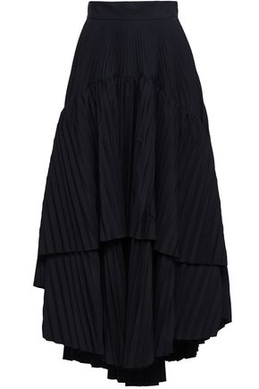 BRUNELLO CUCINELLI Layered woven maxi skirt