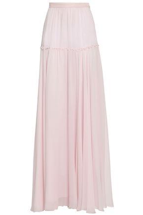GIAMBATTISTA VALLI Tiered silk-georgette maxi skirt