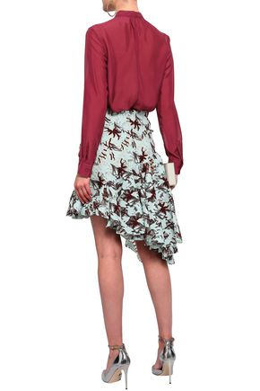 GIAMBATTISTA VALLI Ruffled crocheted cotton-blend mini skirt