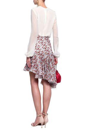 GIAMBATTISTA VALLI Ruffled guipure lace mini skirt