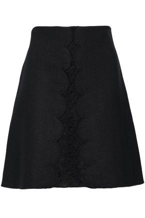 GIAMBATTISTA VALLI Crocheted crepe mini skirt