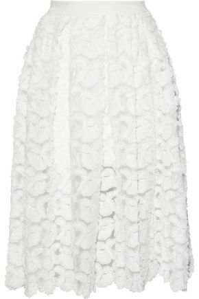 MAJE Jardin appliquéd tulle skirt