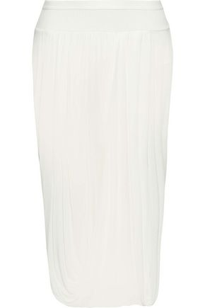 RICK OWENS Layered jersey-paneled chiffon skirt