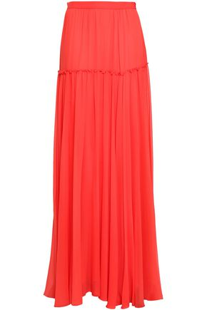 GIAMBATTISTA VALLI Tiered silk-georgette maxi skirt