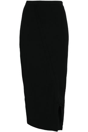 MILLY Stretch-knit midi skirt