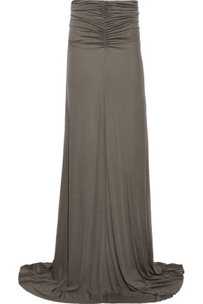 RICK OWENS LILIES Ruched jersey maxi skirt