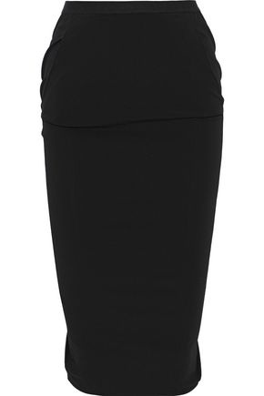 RICK OWENS Pillar split-back stretch-shell pencil skirt
