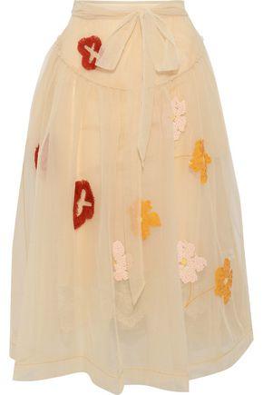 SIMONE ROCHA Embellished tulle midi skirt