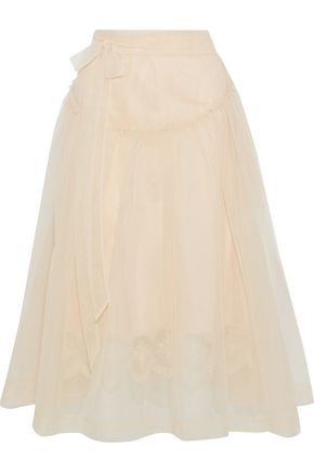 SIMONE ROCHA Ruffle-trimmed tulle midi skirt