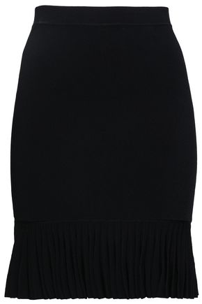 ALEXANDER WANG Pleated stretch-knit mini skirt