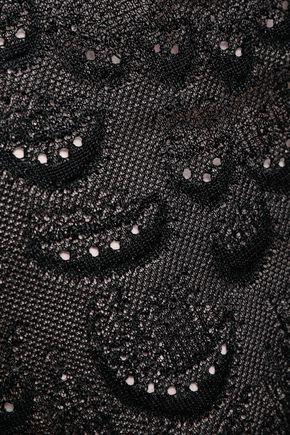 ROBERTO CAVALLI Asymmetric crochet-knit maxi skirt