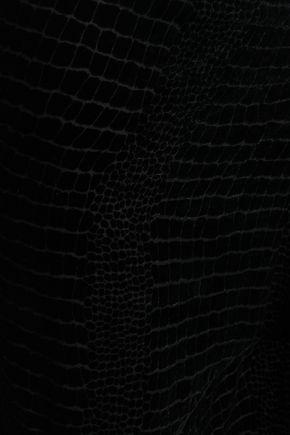 ROBERTO CAVALLI Asymmetric devoré-crepe skirt