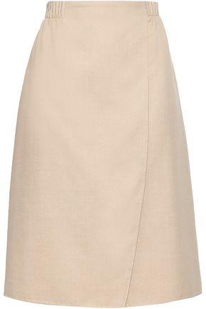 AGNONA Wrap-effect cashmere midi skirt