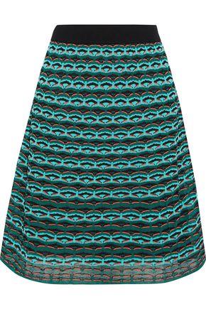 M MISSONI Embroidered crochet-knit skirt