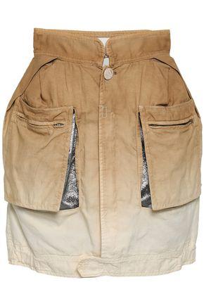 MAISON MARGIELA Dégradé cotton and linen-blend mini skirt