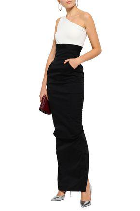 RICK OWENS Pillar split-back stretch-twill maxi skirt