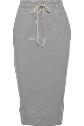 DRKSHDW by RICK OWENS Coated-cotton pencil skirt