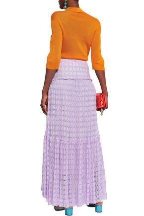 MISSONI Tiered crochet-knit maxi skirt