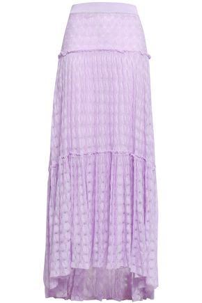 MISSONI Tiered crochet-knit maxi skirt