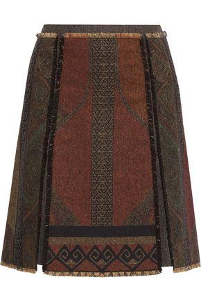 ETRO Wool-blend jacquard mini skirt