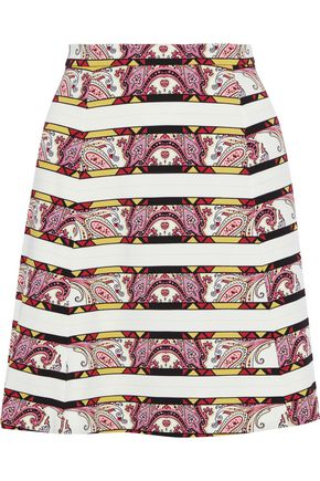 ETRO Printed jersey mini skirt
