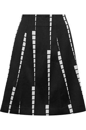 ETRO Flared cotton-blend jacquard skirt