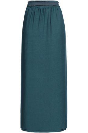 FILIPPA K Grosgrain-trimmed mousseline maxi wrap skirt