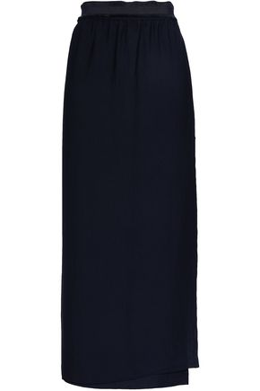 FILIPPA K Grosgrain-trimmed mousseline maxi wrap skirt