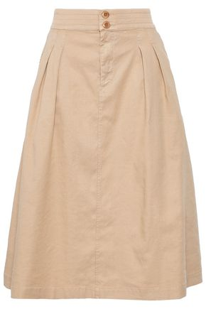 FILIPPA K Pleated linen-blend skirt