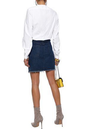 RAG & BONE Rata frayed denim mini skirt