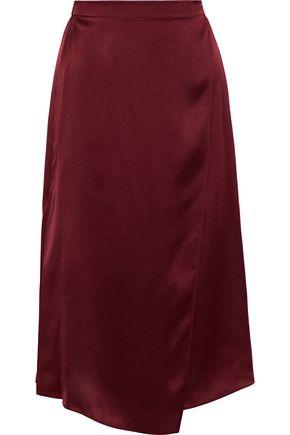 VINCE. Silk-satin skirt
