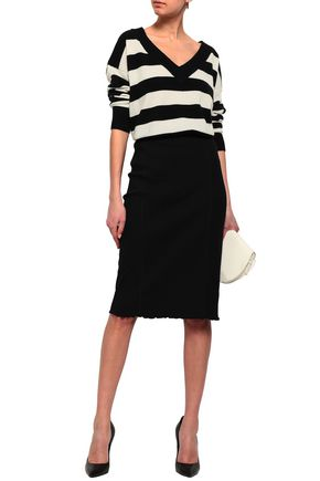 THEORY Ribbed stretch-jersey pencil skirt