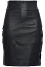 EACH X OTHER Lace-up leather mini skirt