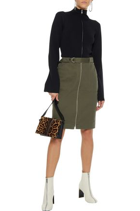 RAG & BONE Lora belted cotton-twill skirt