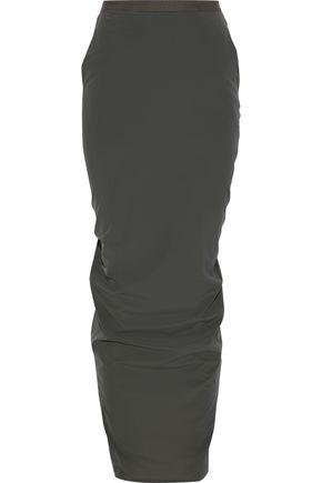 RICK OWENS Split-back stretch-shell maxi skirt