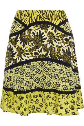 ETRO Printed silk mini skirt