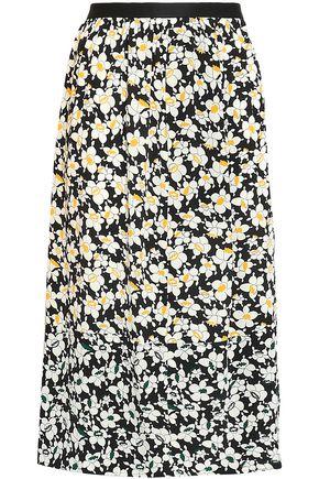 JOSEPH Floral-print silk midi skirt