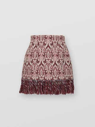 Fringed mini skirt