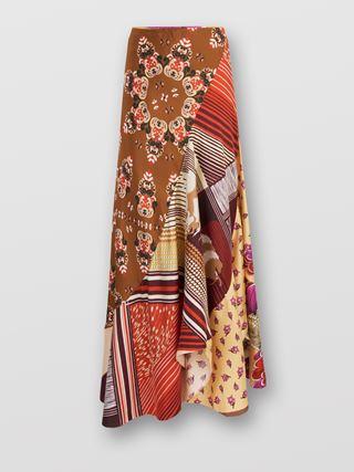 Spiral-cut skirt