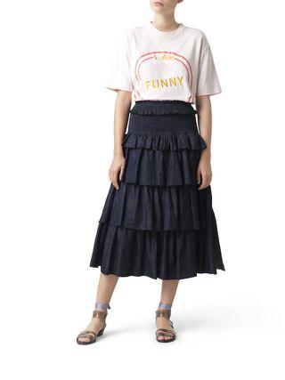 Tiered midi skirt