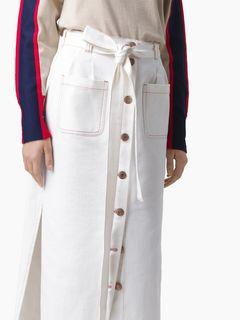 Midi buttoned skirt