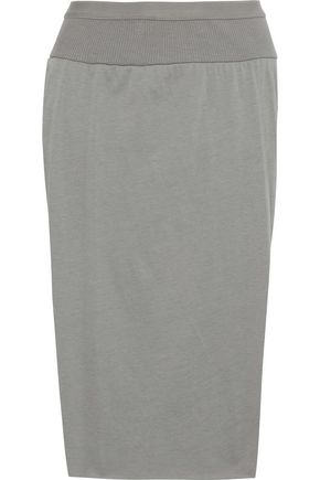 RICK OWENS Loin layered cotton-jersey skirt