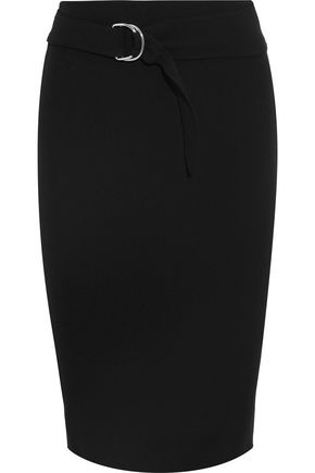 VICTORIA BECKHAM Belted crepe pencil skirt