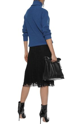 VICTORIA BECKHAM Wool-blend lace skirt