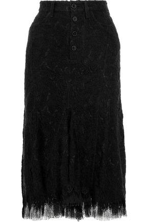 Wool Blend Lace Skirt by Victoria Beckham
