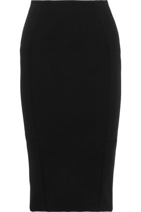 VICTORIA BECKHAM Wool-crepe pencil skirt