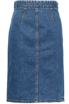 FIORUCCI Margot Salt and Pepper denim pencil skirt
