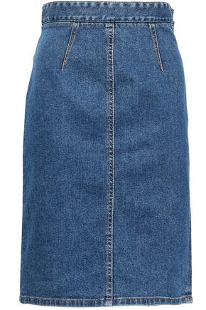 FIORUCCI Margot Salt and Pepper denim pencil skirt