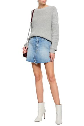 IRO Saiaun frayed denim mini skirt