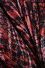 IRO Elook wrap-effect devoré-chiffon midi skirt